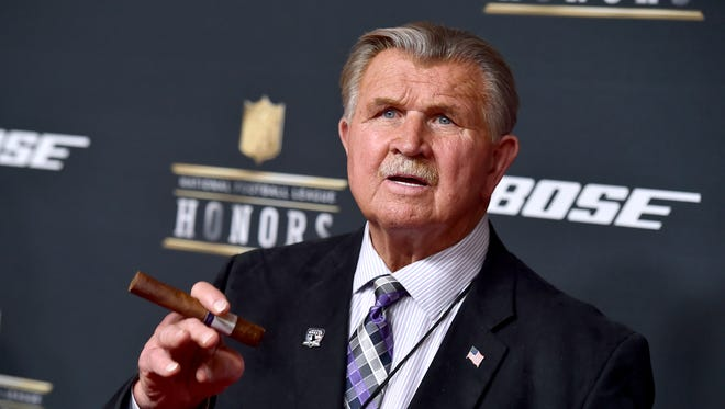 Former NFL player and coach Mike Ditka arrives at the fifth annual NFL Honors at the Bill Graham Civic Auditorium on Saturday, Feb. 6, 2016, in San Francisco. (Photo by Jordan Strauss/NFL/Invision via AP) ORG XMIT: CAPM102