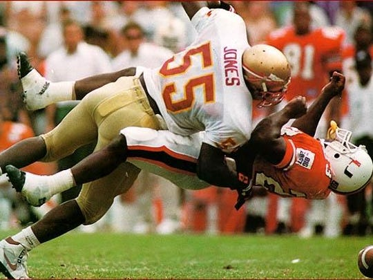 Former FSU All-American linebacker Marvin Jones will have his jersey No. 55 retired at Saturday's game against Miami.