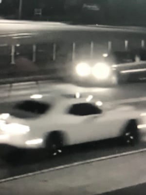 This Dodge Challenger was involved in the hit and run Wednesday that killed an infant and woman.