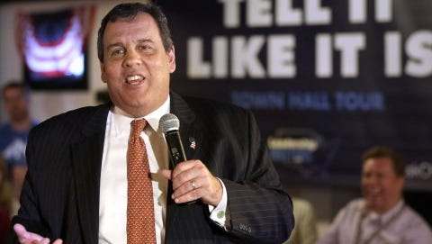 File photo of GOP presidential candidate Chris Christie campaigning in New Hampshire, a state he has favored over Iowa.