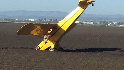 No one was injured after a plane crashed outside of Castroville on Wednesday.