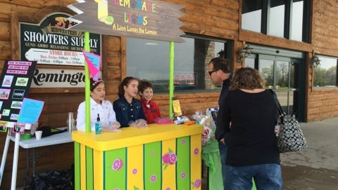 Lemonade Lions Stand was one of 52 lemonade stands open for business for in Fond du Lac on May 7, 2016.