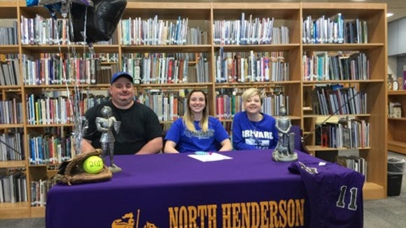 North Henderson senior Teegan Bullock has signed to play softball for Brevard College.