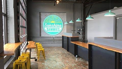 The brick-and-mortar location of Sunshine Sammies will open in downtown Asheville Friday.
