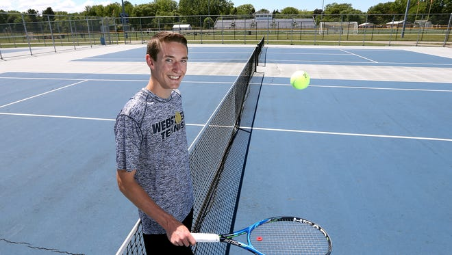 Webster Schroeder's John Speicher is the 2017 All-Greater Rochester Boys Tennis Player of the Year.