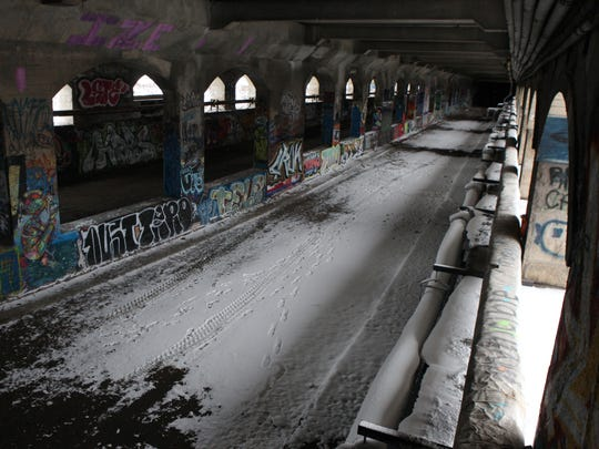 The abandoned subway bed under the Broad Street bridge could see redevelopment of the space into a two-level mall with retail.