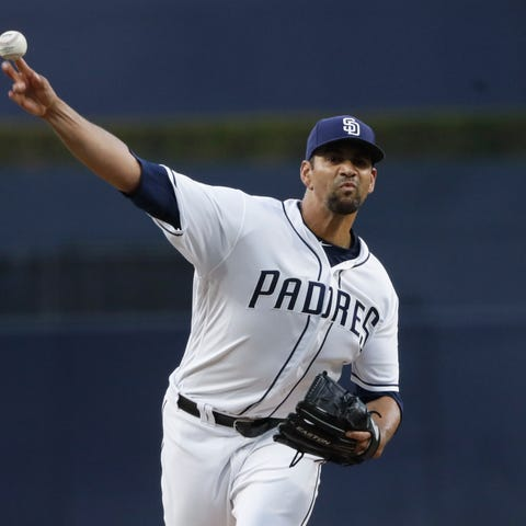 San Diego Padres starting pitcher Tyson Ross...