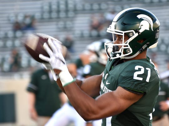 Redshirt freshman Cam Chambers could emerge as one of Michigan State's top receivers this season.