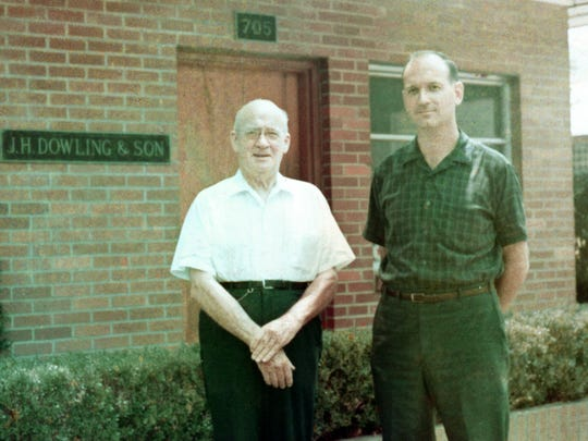 """JH Dowling Sr, left, and son JH Dowling Jr, both of who go by """"Ham."""""""