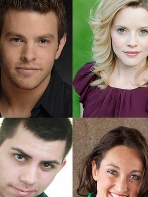 """Actors (top left to bottom right) in """"Marry Me a Little"""" include Jordan Price, Deborah Mae Hill, Ben Gierhart and Lauren McCombs."""