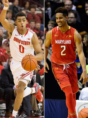 D'Angelo Russell and Melo Trimble highlight the Ohio State-Maryland matchup.
