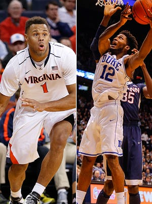 Virginia and Duke face off in an ACC conference matchup.