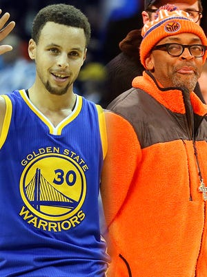 Stephen Curry and Spike Lee