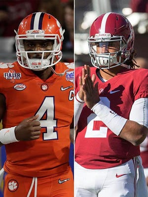 Clemson's Deshaun Watson and Alabama's Jalen Hurts, two dual-threat QBs, square off in the title game.