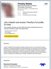 A fake LinkedIn account discovered by researchers at