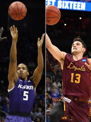 Kansas State's Barry Brown and Loyola-Chicago's Clayton Custer are dynamic players for their Elite Eight squads.