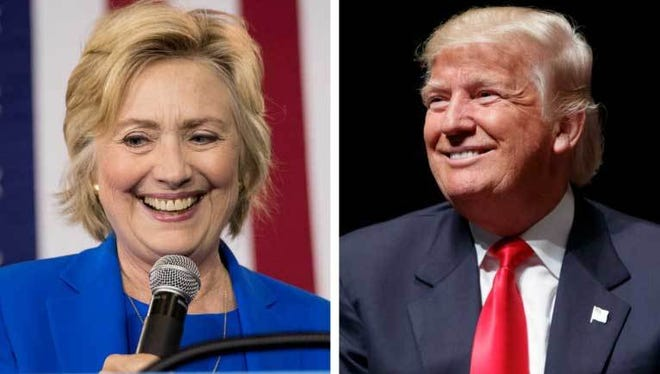 Presidential candidates Hillary Clinton and Donald Trump.