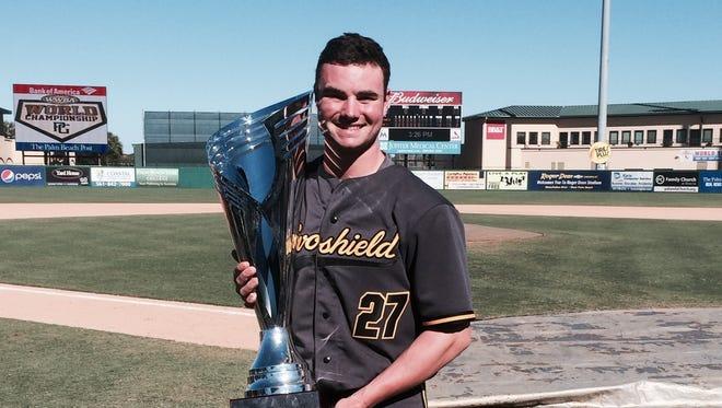 Fletcher's Logan Allen has won five world championships with the Evoshield Canes (Va.) showcase baseball organization.