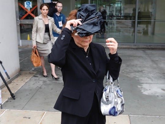 Maria Solorzano, mother of Cynthia Arce of Mamaroneck, leaves Westchester County Courthouse in White Plains after her daughter made an court appearance in connection to the death of her daughter Gabriella Boyd. Arce has been charged with 2nd degree murder.