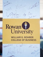 A beam signing ceremony was held at the construction site of Rowan University's Rohrer College of Business in Glassboro on Wednesday.  01.06.16