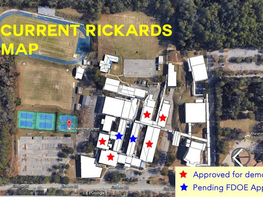 BEFORE: This is the current layout of Rickards High