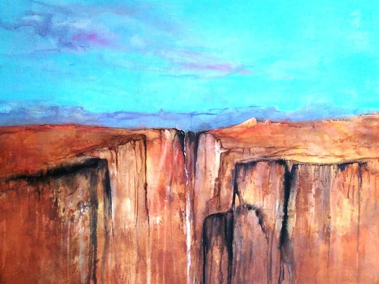 """""""If I Could See Forever"""" by Dani Anderson,  who is the September Artist of the Month for the Las Cruces Arts Association.Her work is featured at the Community Enterprise Center during the Downtown Ramble from 5 to 7 p.m. today."""