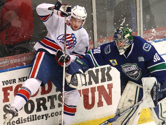 The Rochester Americans defeated the Utica Comets 7-3 Friday.