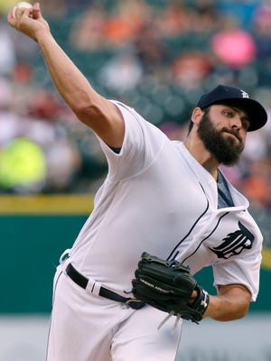 Tigers pitcher Michael Fulmer throws against the Orioles during the second inning Wednesday at Comerica Park.