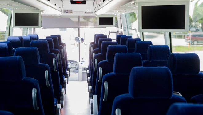 Dolphin Transportation Specialists recently upgraded itsfleet with nine new state-of-the-art buses, many of which include 15-inch monitors.