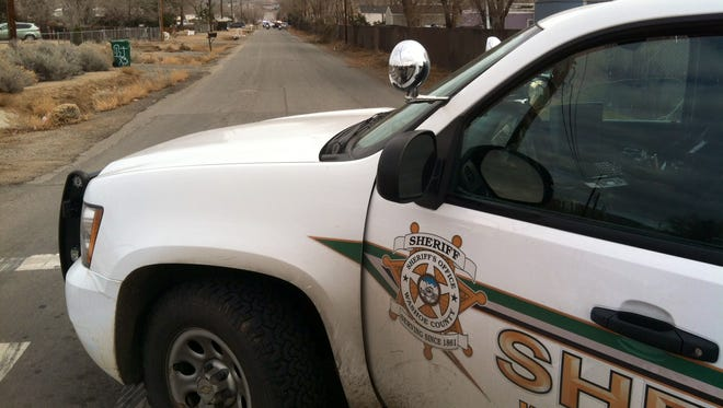 A submitted photo of a Washoe County Sheriff's vehicle. Deputies arrested a man wanted on a burglary-related arrest warrant in the Sun Valley area on Wednesday.