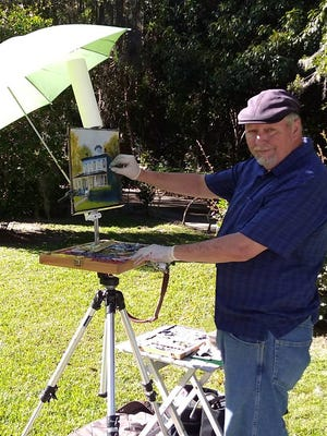 Steve Johnson enjoys painting plein air, or open air painting.