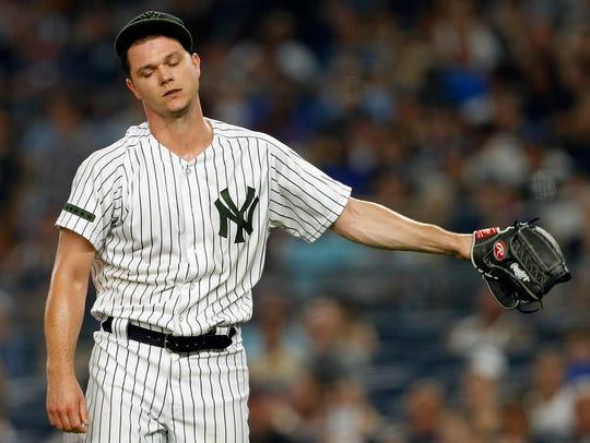 May 26, 2018; Bronx, NY, USA; New York Yankees starting