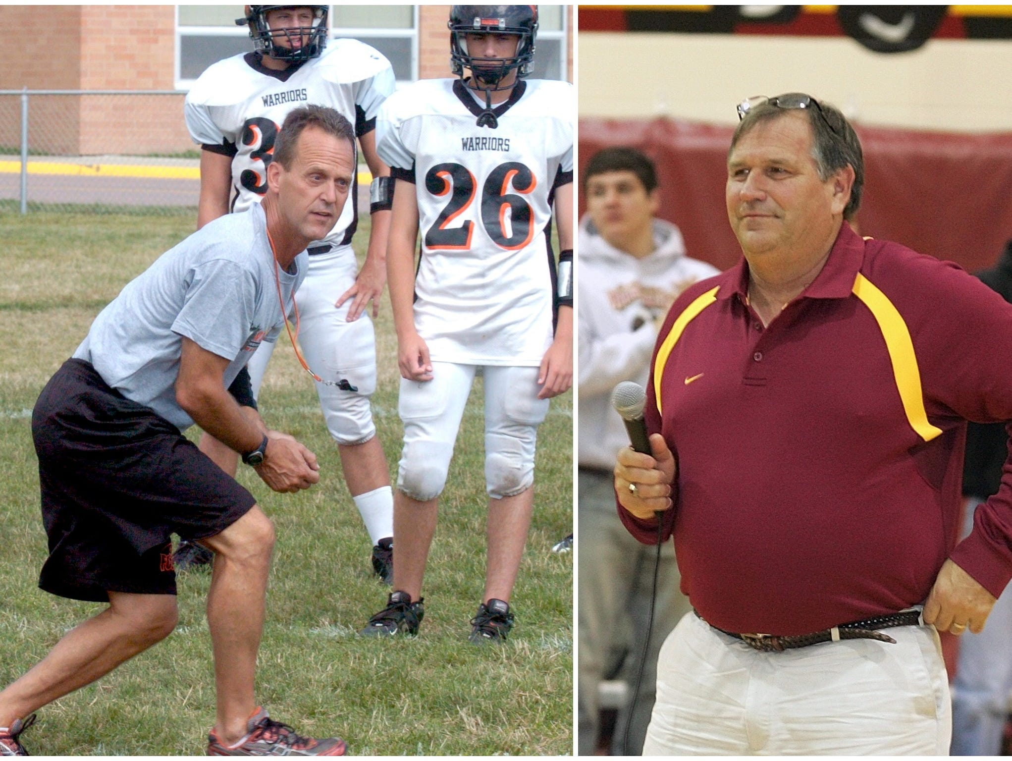 Former Washington High coach Brian Hermanson (left) and Roosevelt's Brent DeBoer will join the SDFBCA hall of fame for the 2016 class.