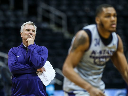 Kansas State head coach Bruce Weber will have a tough
