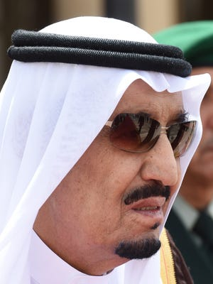 Saudi Arabia's King Salman will not attend a Camp David summit of U.S. and allied Arab leaders, his foreign minister, Adel al-Jubeir, said Sunday.
