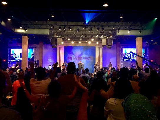 A record crowd attended this year's Prayerfest at Christ