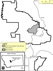 The Moose Creek Vegetation project is 20 miles north