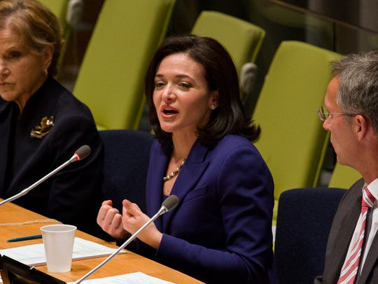 Facebook's chief operating officer Sheryl Sandberg speaks during a forum called MDG Success, Millennium Development Goals, at the 68th session of the United Nations General Assembly, at U.N. headquarters on Sept. 23, 2013. Next week she will appear before Congress in hearings to discuss the role of social media foreign interference in U.S. elections.