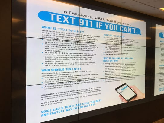 Delaware's 911 centers have begun accepting emergency
