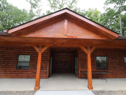 The finished cabins on the Jawonio campus in New City