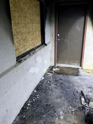 A fire that started in a downstairs apartment caused