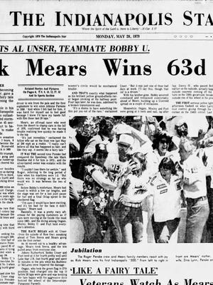 1979 Indianapolis Star front page