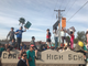 Hundreds of Scottsdale residents, parents and teachers line the street outside Coronado High School Feb. 13, 2018, ahead of a school board meeting to call for new district leadership.