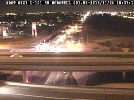 Loop 101 accident near McDowell Road