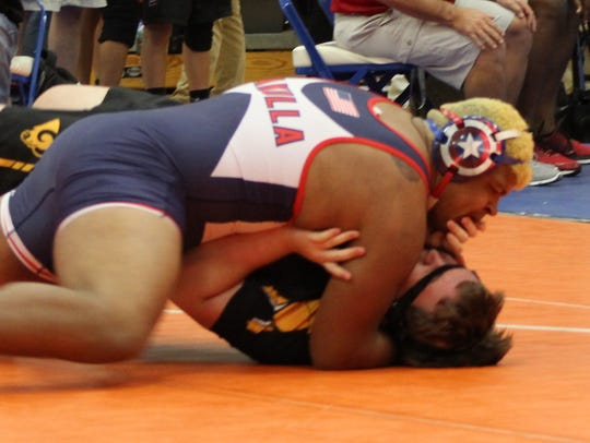 Wakulla's Darius Wilkins wrestles at the Region 1-1A