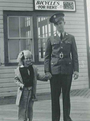 Robert Fox and his sister.