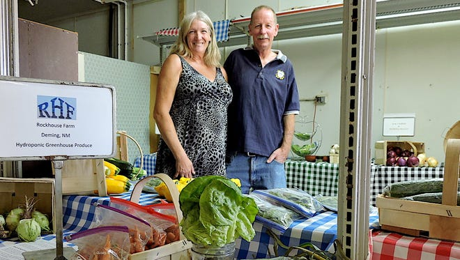 Kay Linda Midgette and Brian Davey are co-owners of the Sleeping Dragon Farmers' Outlet located south of town on the Columbus Highway.