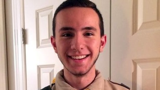 New Eagle Scout Joey Philippone.