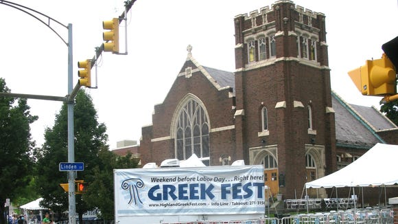 The Greek Festival is held on East Avenue.