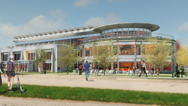 An artist's rendering of the proposed outside of the building.